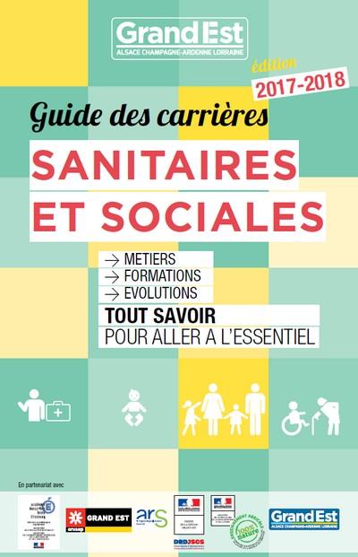 Couverture Guide des carrières sanitaires et sociales