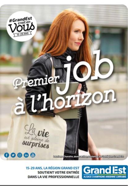 Jeunesse #GrandEst croit en vous : 1er job à l'horizon