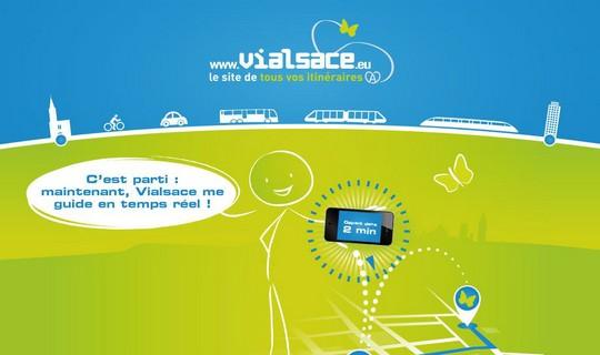 Avec Vialsace, gérez vos déplacements en temps réel !