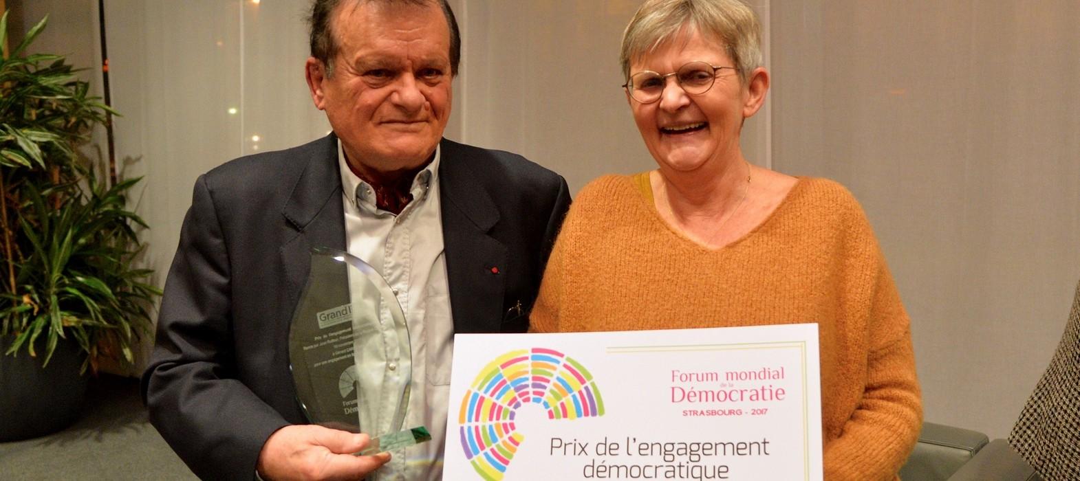 Prix de l'engagement démocratique - Gérard Cardonne