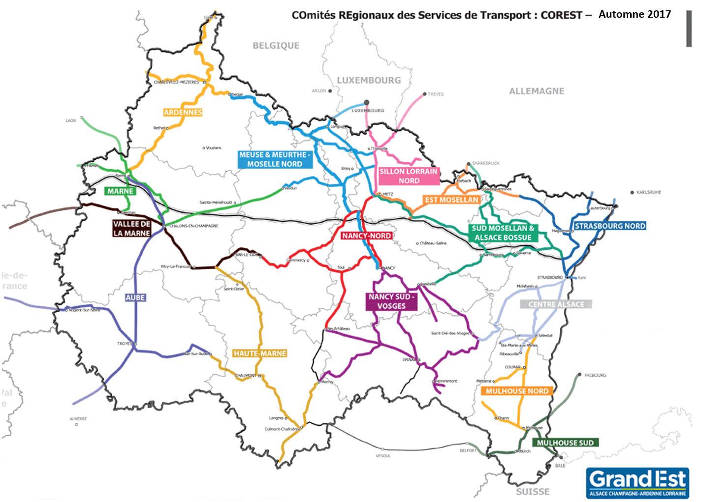 Carte Alsace Sncf.Comites Regionaux Des Services De Transport Corest Grandest