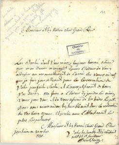 Vœux présentés par Philippe Frédéric de Berckheim (1770)