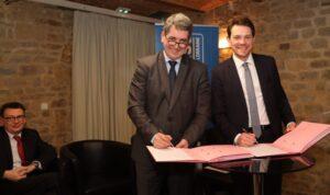 Jean Rottner et Boris Ravignon - Signature du Pacte Offensif Croissance Emploi