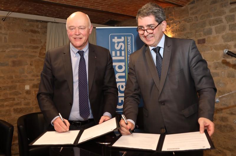 Signature d'une Convention avec Ardennes Développement - Jean Rottner et Philippe Mathot
