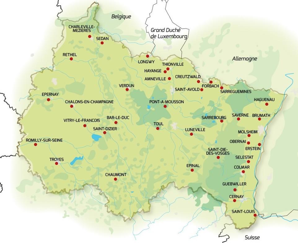 37 villes moyennes en Grand Est