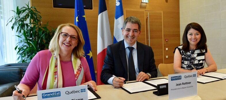 Le Grand Est et le Québec renouvellent leur coopération