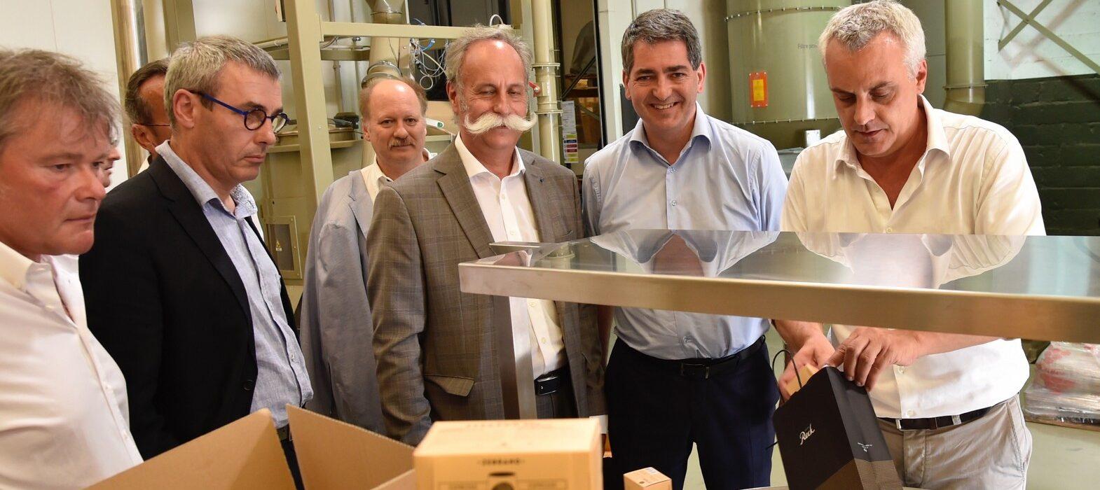 Signature convention cadre artisanat à Strasbourg cafés Reck