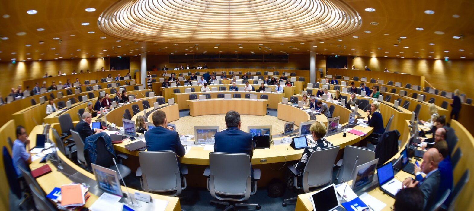 Photo de l'hémicycle lors de la Commission Permanente du Conseil Régional - Vendredi 12 octobre 2018
