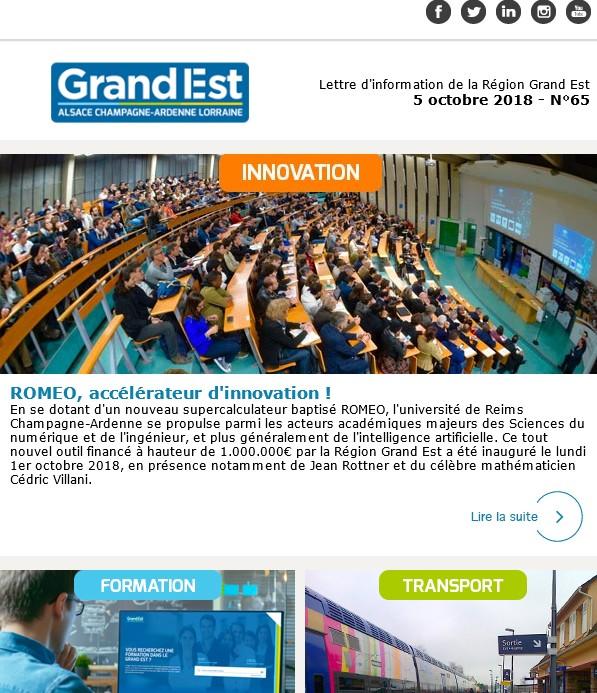 Abonnez-vous à la lettre d'information de la Région Grand Est