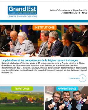 Newsletter n°69 - Institutions - Territoires