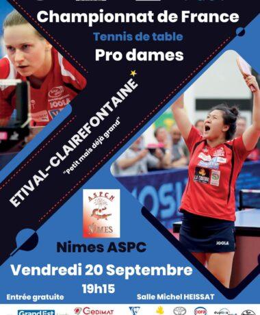 Tennis de table : ASRTT / Nîmes Pro Dames