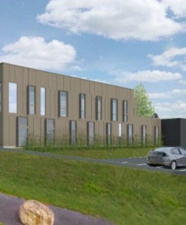 Visite de chantier des bureaux ATMO Grand Est à Reims