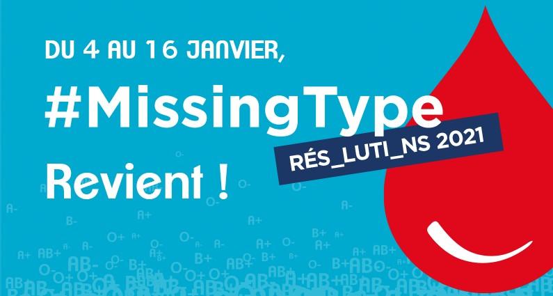 Don de sang : la Région partenaire de l'opération #MissingType