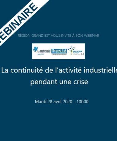 La continuité de l'activité industrielle pendant une crise