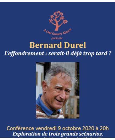 Conférence Bernard Durel : L'effondrement : serait-il déjà trop tard ?