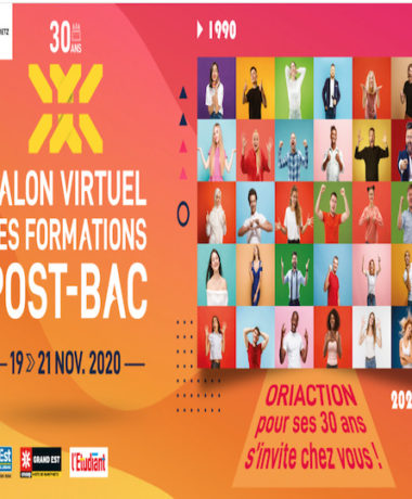 Oriaction 2020 : Salon virtuel des formations post-bac 2020-2021