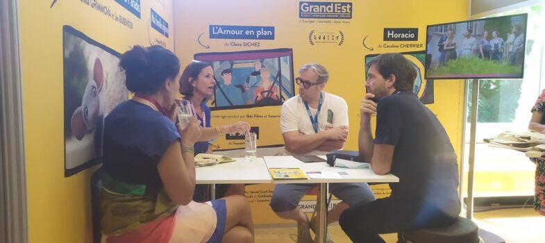 Délégation de professionnels du Grand Est au Marché International du Film d'Animation d'Annecy