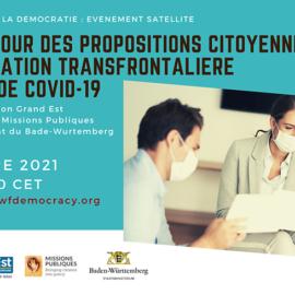 Débat autour des propositions citoyennes sur la coopération transfrontalière en temps de Covid-19